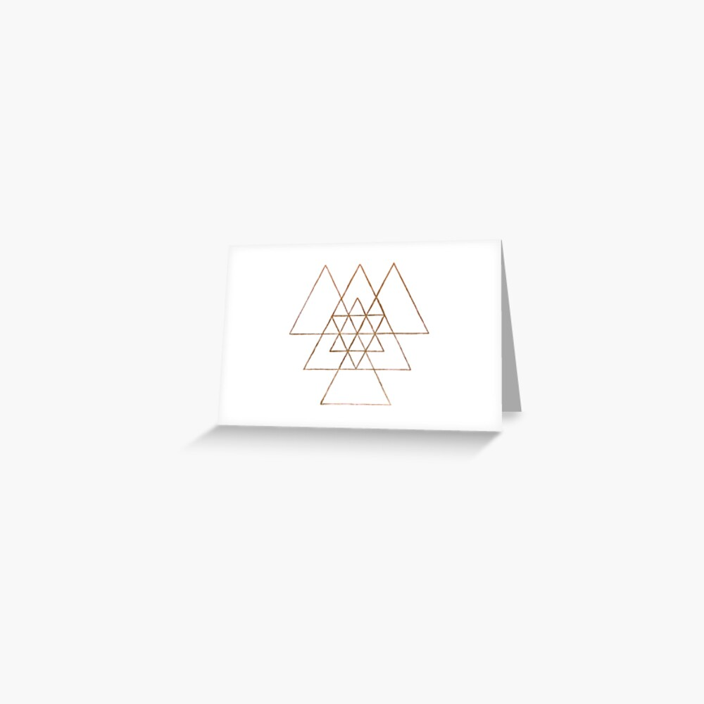 Golden Triangles Greeting Card