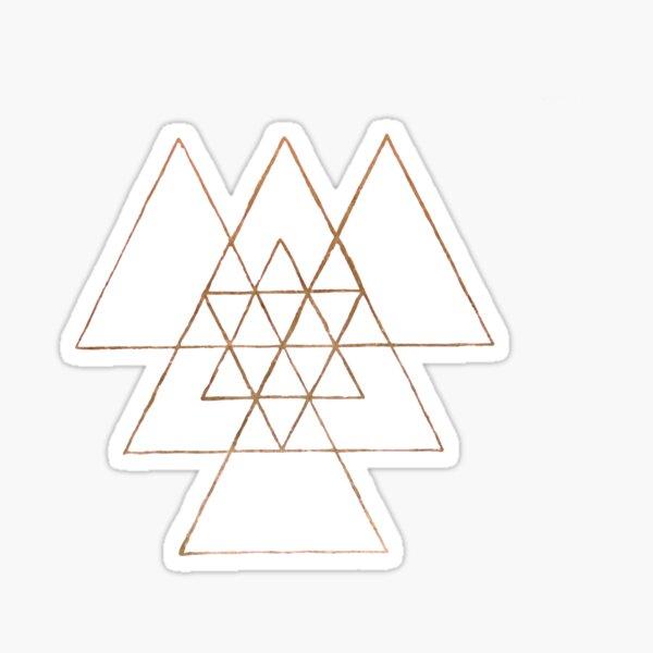 Golden Triangles Sticker