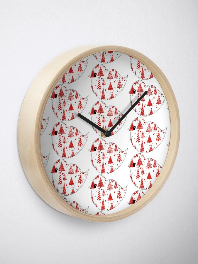 Alternate view of Christmas Robin and Friends Clock