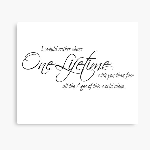 I would rather share one lifetime Metal Print