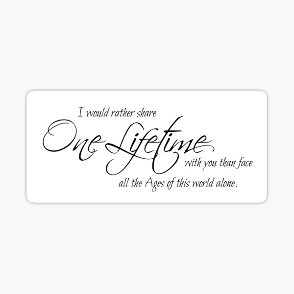 I would rather share one lifetime Sticker