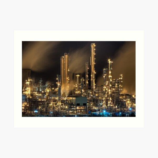 Grangemouth Refinery (2) Art Print