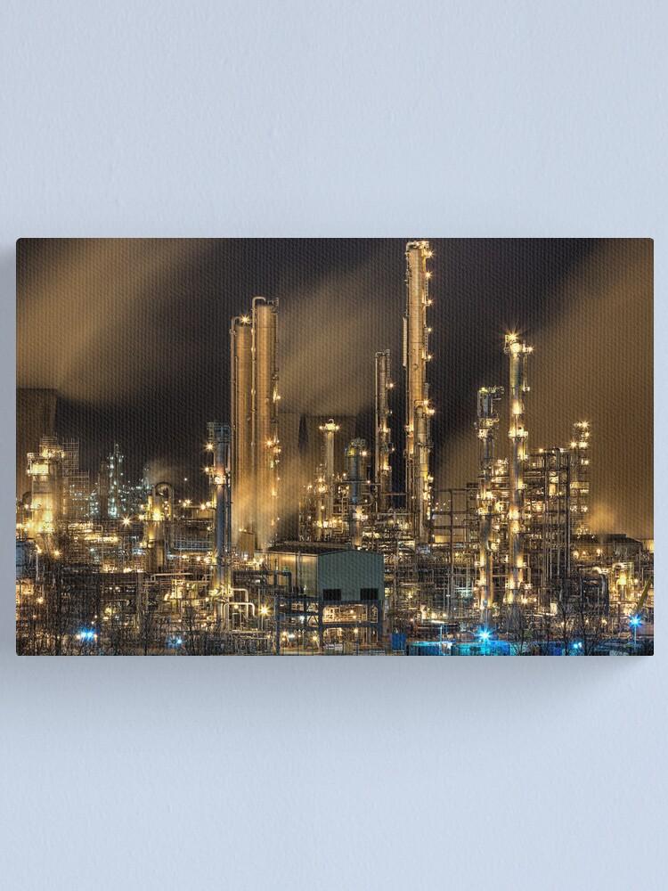 Alternate view of Grangemouth Refinery (2) Canvas Print