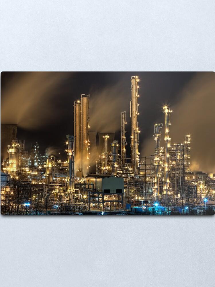 Alternate view of Grangemouth Refinery (2) Metal Print