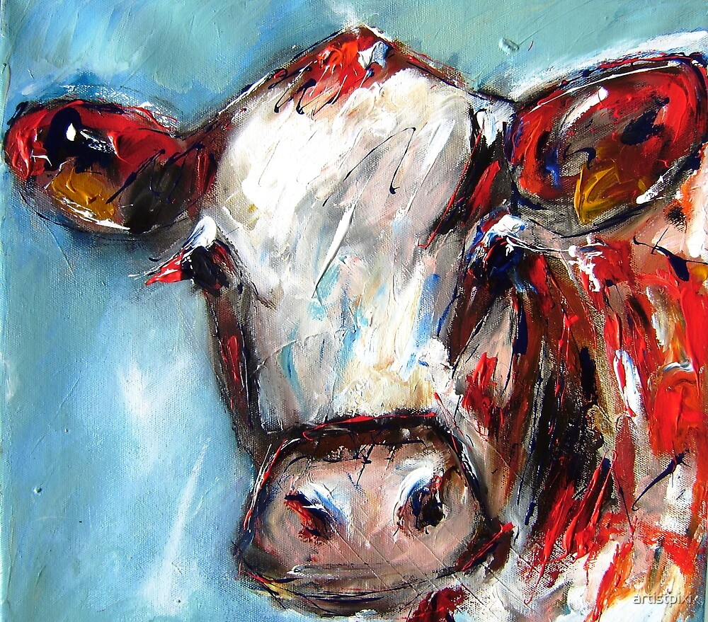 A quizzical cow by artistpixi