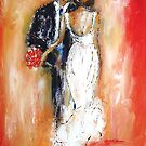 Wedding couple bride and groom  by artistpixi