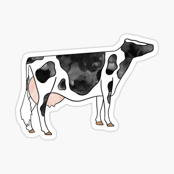 Watercolor Holstein Cow Sticker