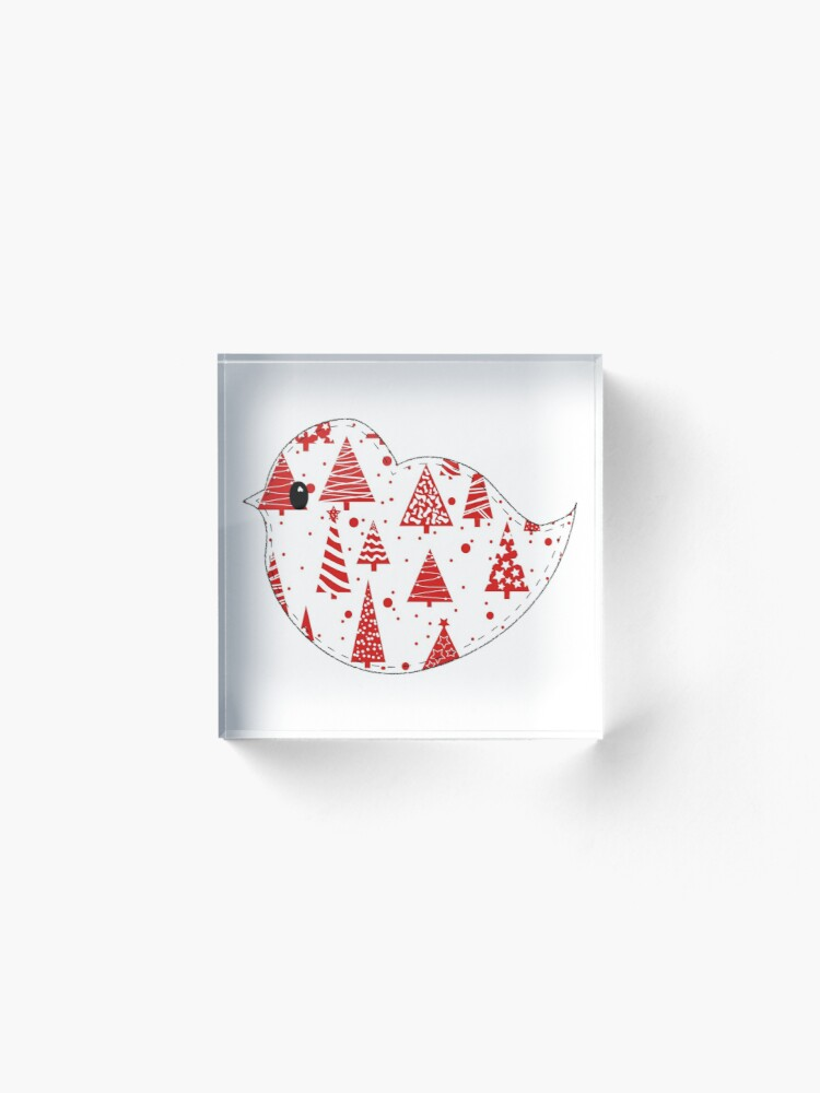 Alternate view of Christmas Robin  Acrylic Block