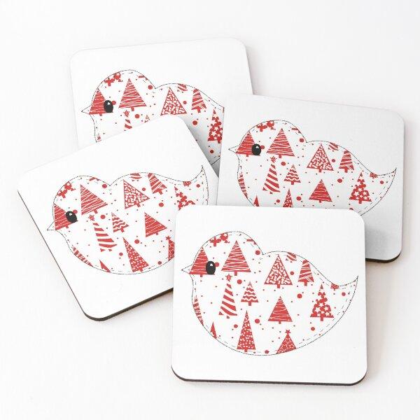 Christmas Robin  Coasters (Set of 4)