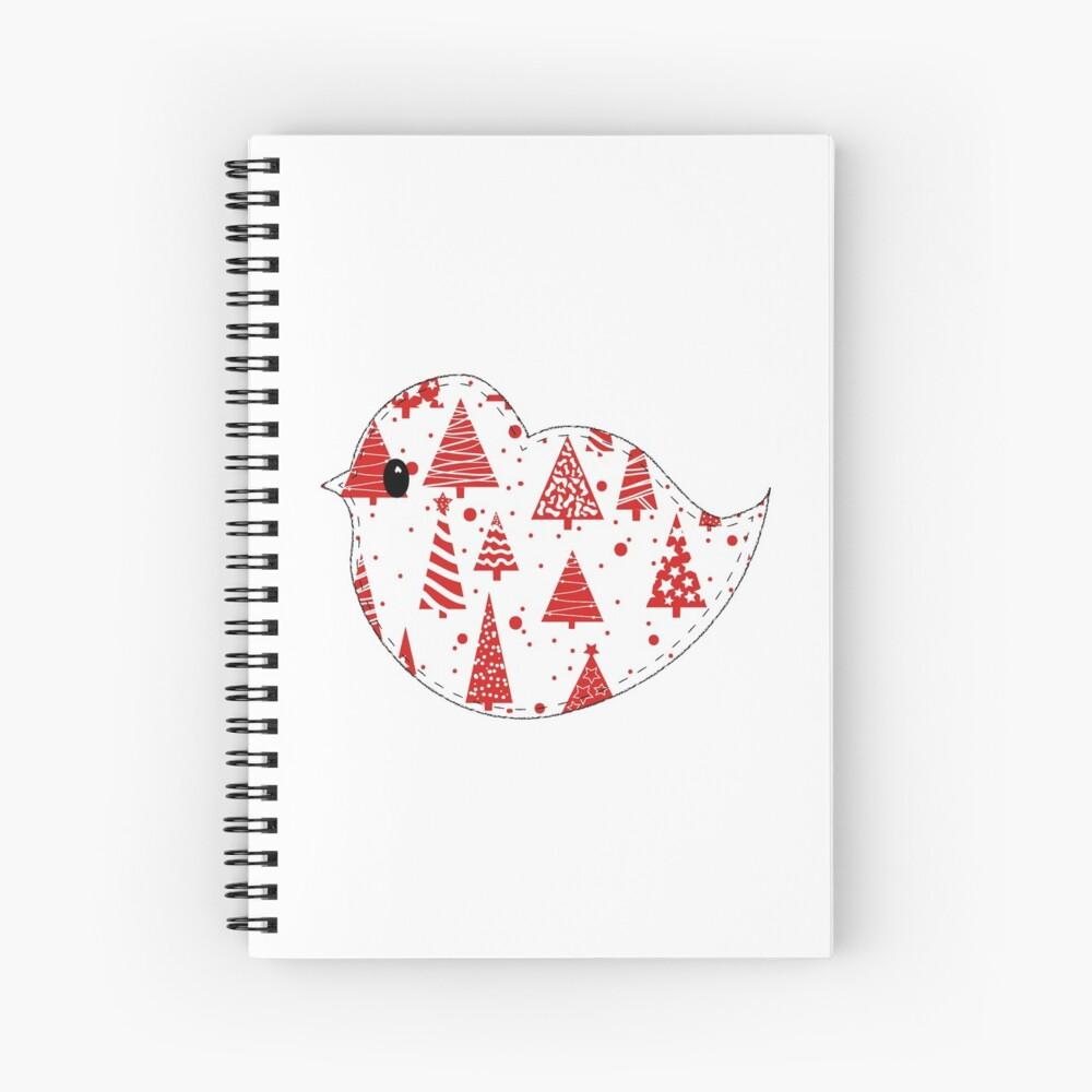 Christmas Robin  Spiral Notebook