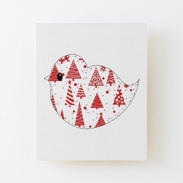 Christmas Robin  Wood Mounted Print