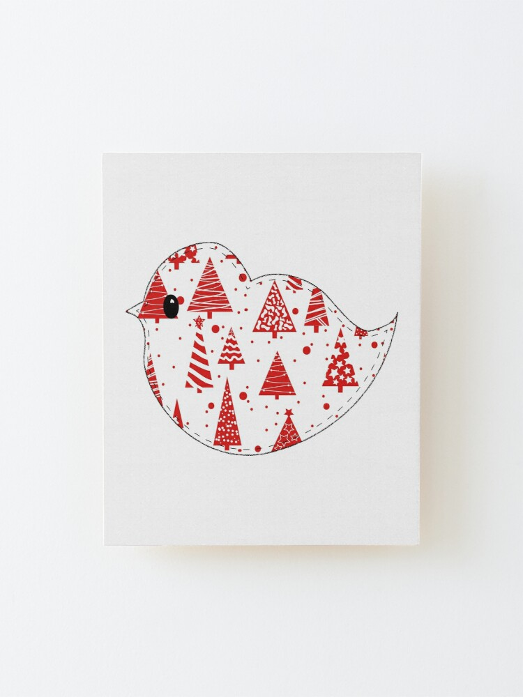 Alternate view of Christmas Robin  Mounted Print