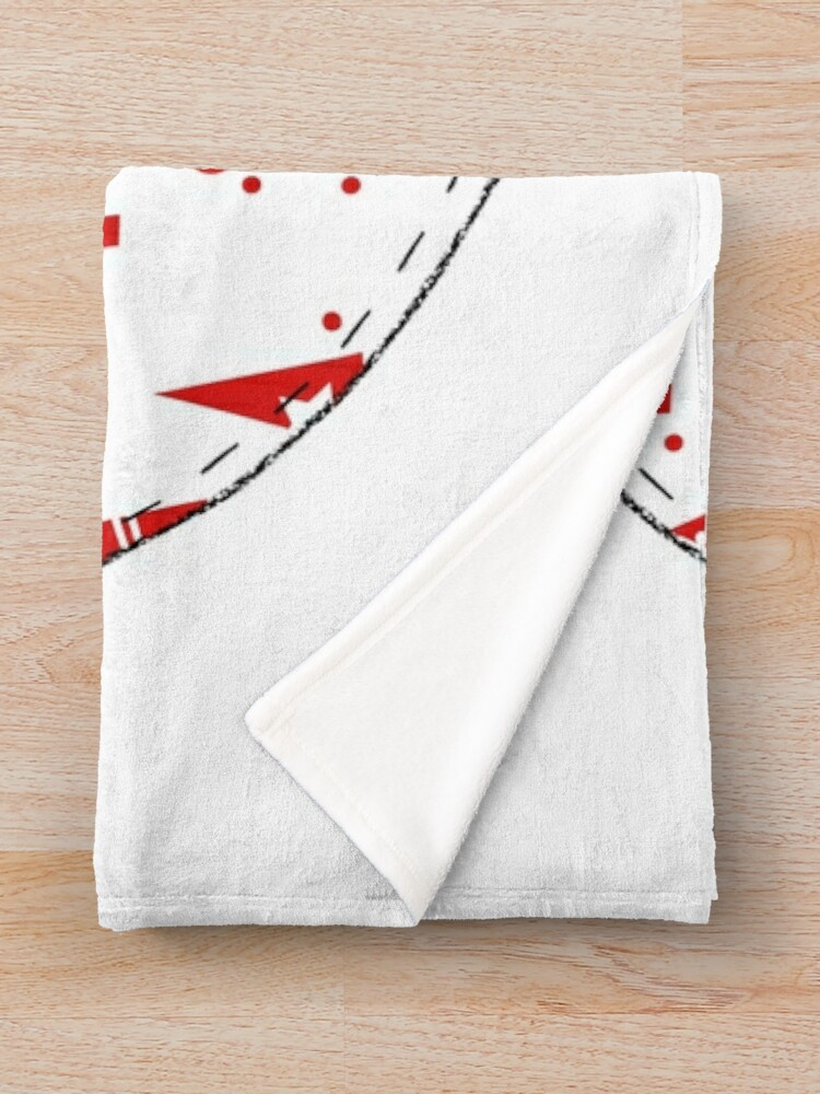 Alternate view of Christmas Robin  Throw Blanket