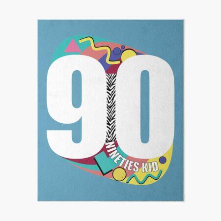 90s Kid - Vintage Nineties Kid Merch Art Board Print