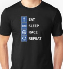 Eat Sleep Race Repeat Unisex T-Shirt