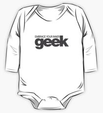 Embrace Your Inner Geek (Black) One Piece - Long Sleeve