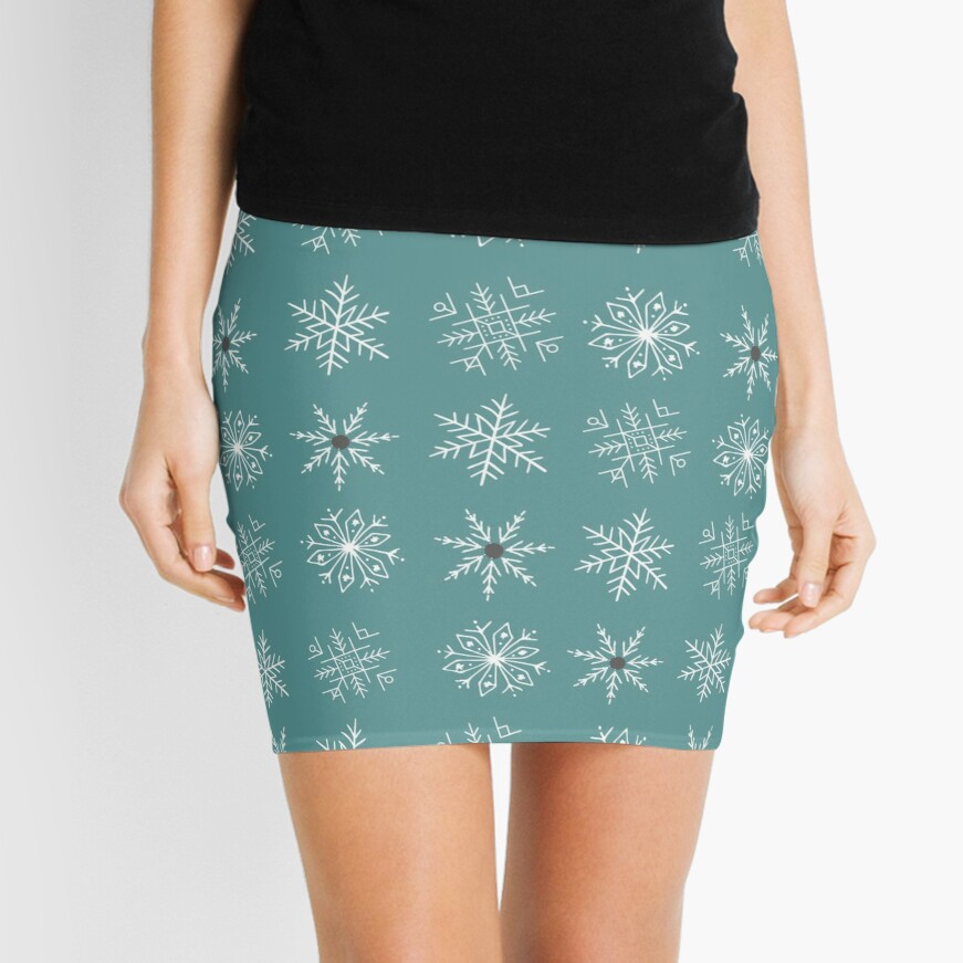 SNOWFLAKE PATTERN Mini Skirt