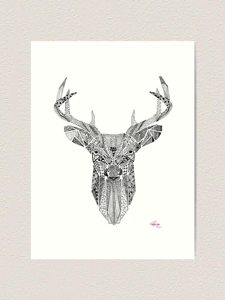 Alternate view of Mr Stag Art Print