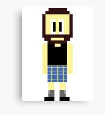 Pixel Scotsman Canvas Print