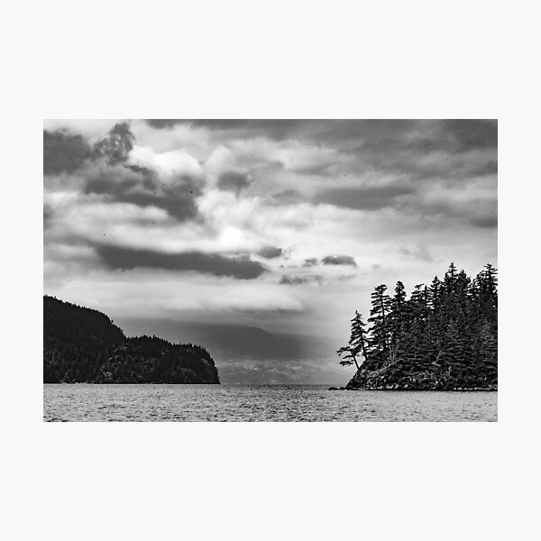 Storm clouds of Harrison Lake Photographic Print