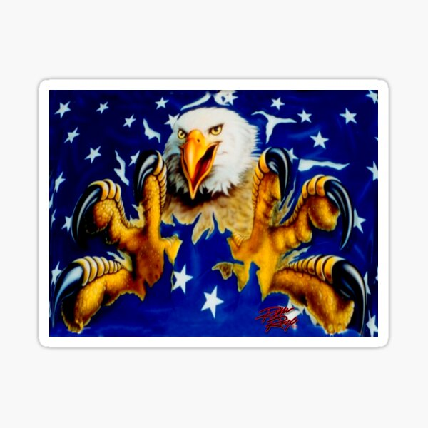 American Eagle & Stars  Sticker