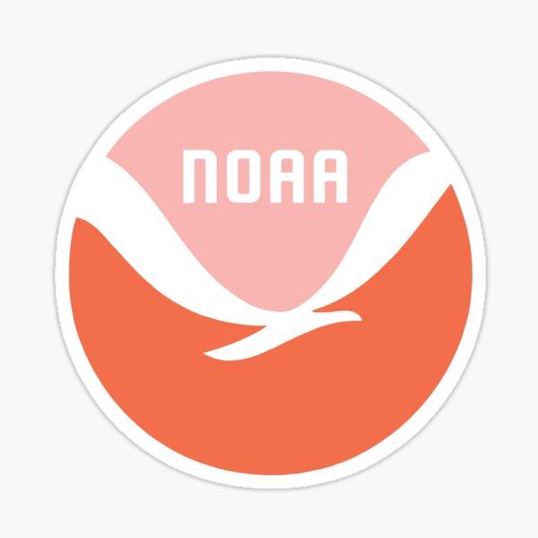 NOAA logo (orange and pink) Sticker