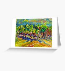 Vineyard Harvest Oil Painting Ekaterina Chernova Greeting Card
