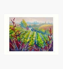 Vineyard Scene Oil Painting by Ekaterina Chernova Art Print