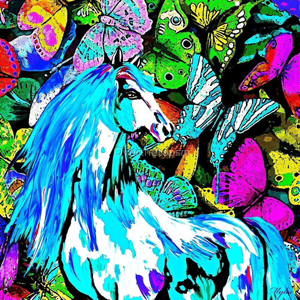 Horses and Butterflies by Saundra Myles