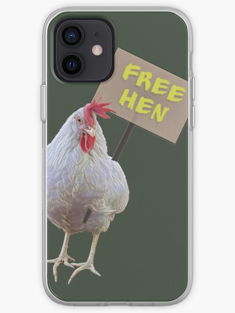 Poule libre, libérez les poules | Coque iPhone