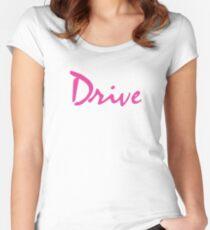 DRIVE Tailliertes Rundhals-Shirt