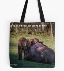 Old Cow on Mother's Day Tote Bag