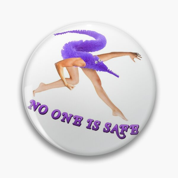 Worm on a String Time ~ Painting Aesthetic Cursed Collection ~ No One is Safe Set ~ Purple Pin