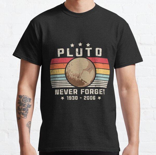 Nunca olvides Plutón Estilo retro Ciencia espacial divertida Camiseta clásica