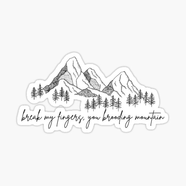 Break My Fingers, You Brooding Mountain- Adam Driver/ John Oliver Sticker