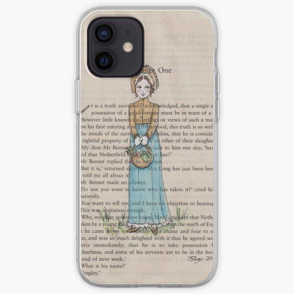 Pride and Prejudice chapter one. Elizabeth Bennet iPhone Soft Case