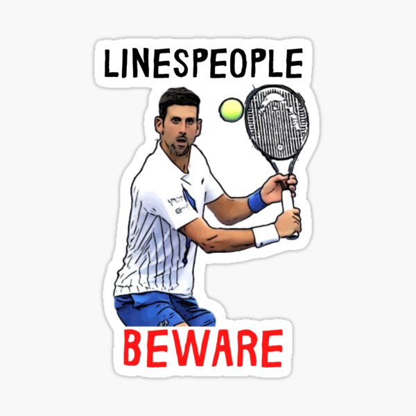 Djokovic Lineperson US Open Sticker