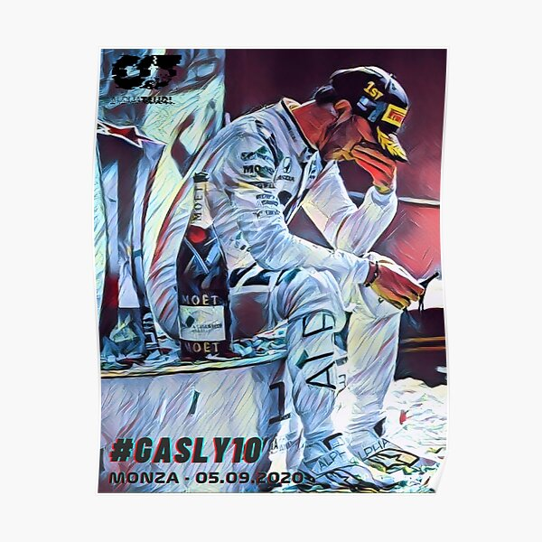 Pierre Gasly's first podium Poster