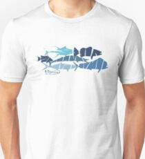 Fish collage ripped  Slim Fit T-Shirt
