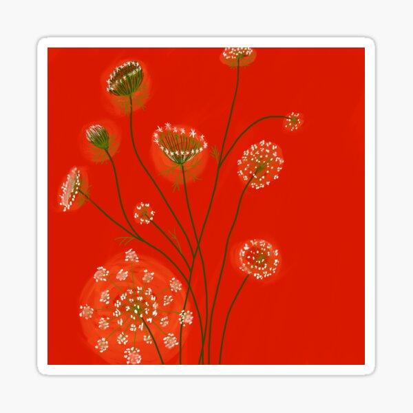 Lace on Scarlet Sticker