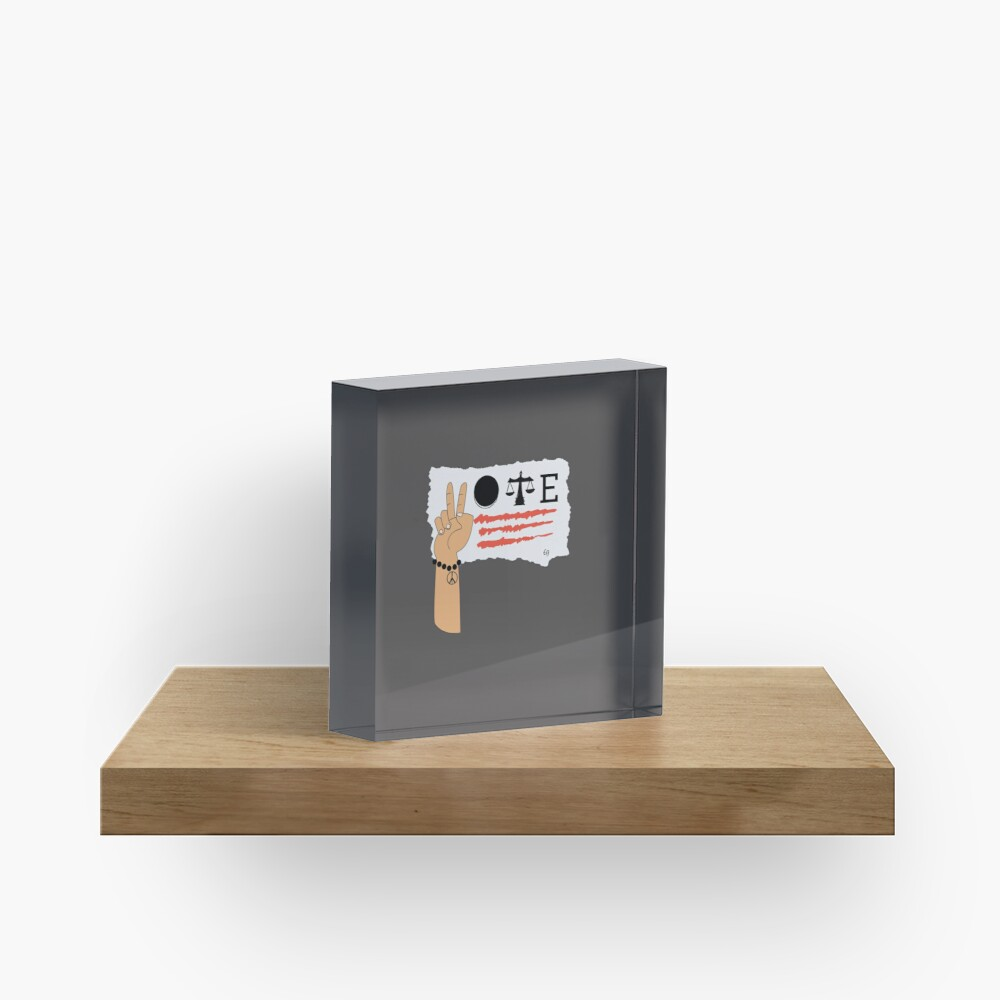 Rock the Vote merch! Acrylic Block
