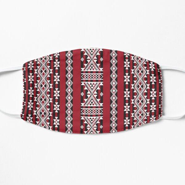 Motif  tapis Kabyle rouge Masque sans plis