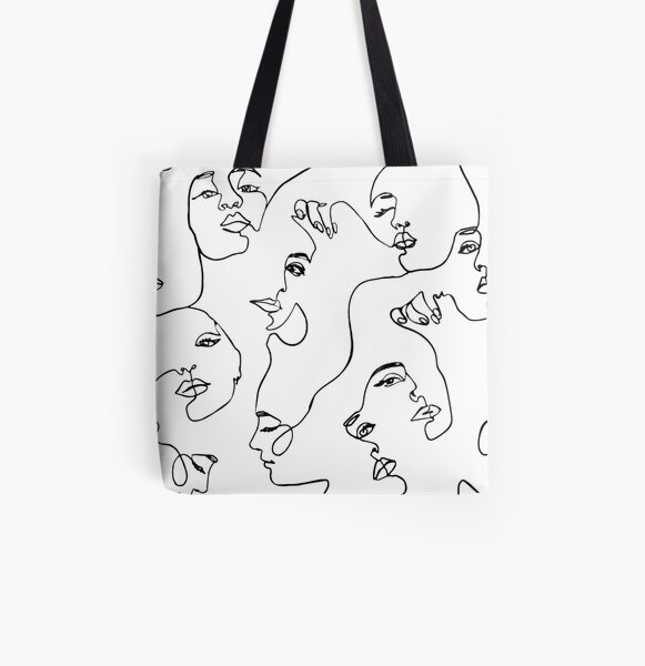 One Line Art  All Over Print Tote Bag