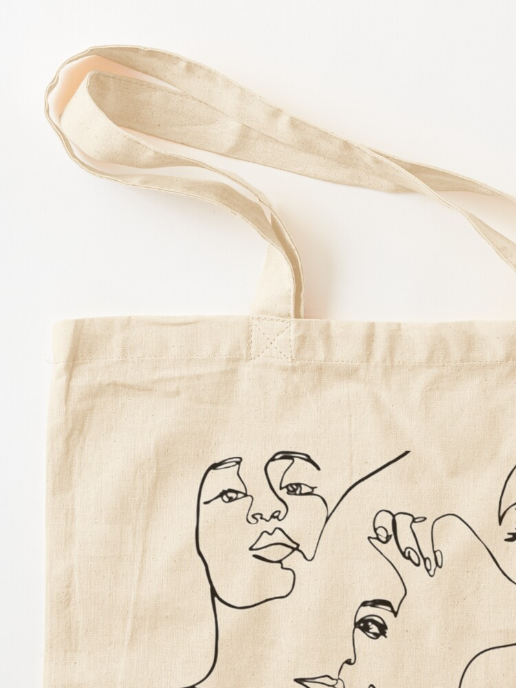 Alternate view of One Line Art  Tote Bag