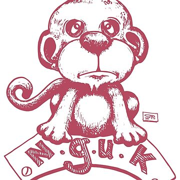 Baby Monkey hand draw illustration by djapart