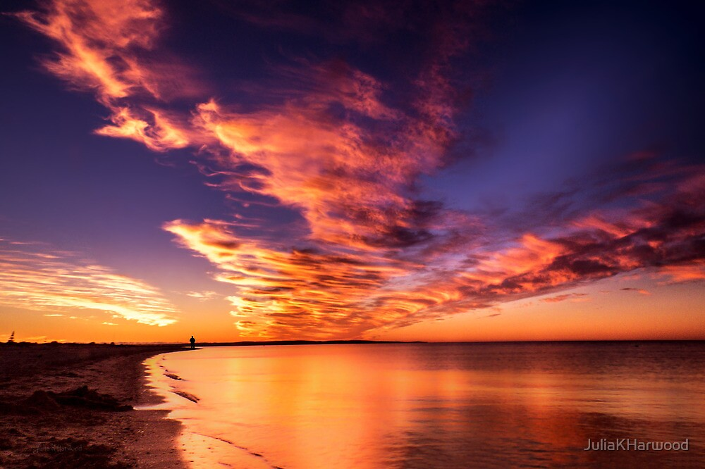 Red Sky at Night, Shepherds Delight by Julia Harwood