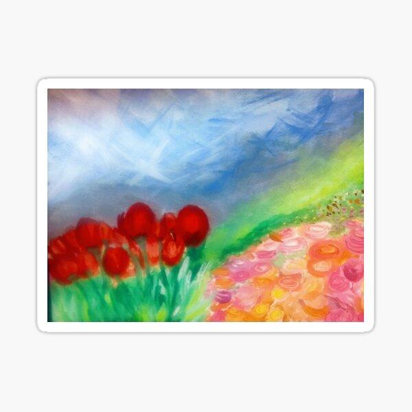 Flowers on the Hillside Sticker