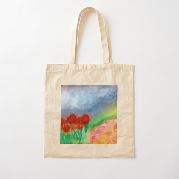 Flowers on the Hillside Cotton Tote Bag