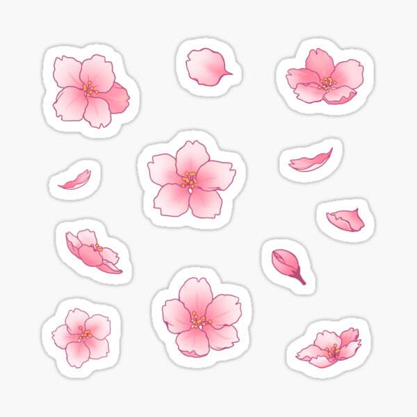 Fallende Sakura-Kirschblüte Sticker