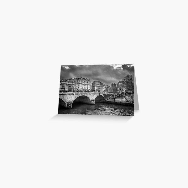 Paris Black and White Greeting Card